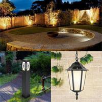 Удобные способы осветить сад ночью.